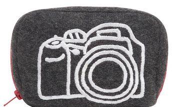 Šedo-červené pouzdro na fotoaparát Sewlomax