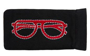 Černo-červené pouzdro na brýle Sewlomax