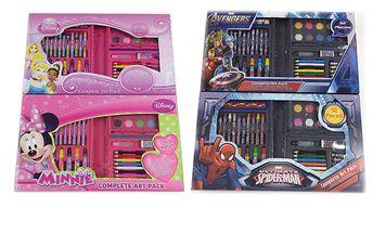 Výtvarná sada 52 ks na kreslení - vodovky, fixy, pastelky aj. - Princess