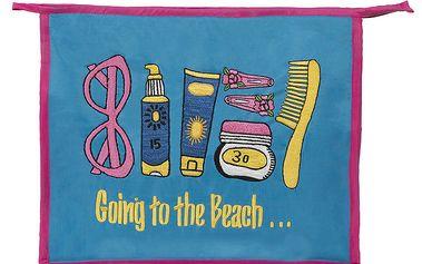 Dámská růžovo-modrá plážová taštička Sewlomax