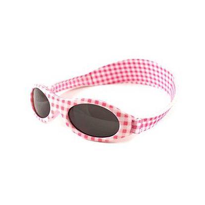 Baby Banz - dětské sluneční brýle Adventurer Pink Gingham - 0-2 roky