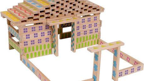 Dřevěná stavebnice -100ks
