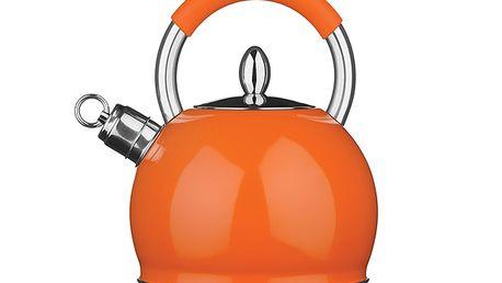 Oranžová nerezová konvice