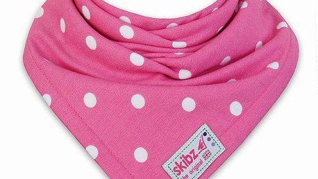 Skibz - komfortní bryndák - šátek tkaná bavlna - Pink spot