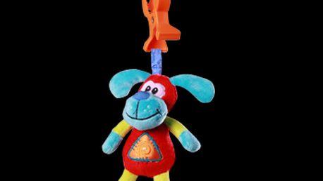 Baby Ono - plyšová vibrační hračka s klipem na kočárek 1140 - pejsek