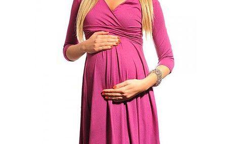 Těhotenské šaty Hela - Dark Pink 4400 - různé vel.