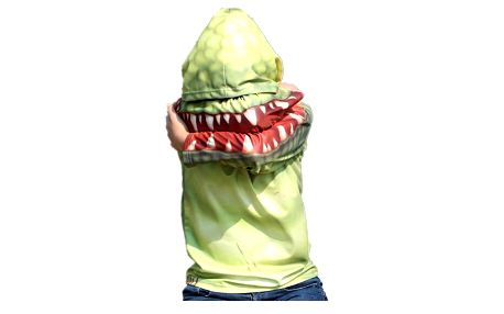 3 D dětské triko s kapucou - dlouhý rukáv Krokodýl vel. 6-7 let