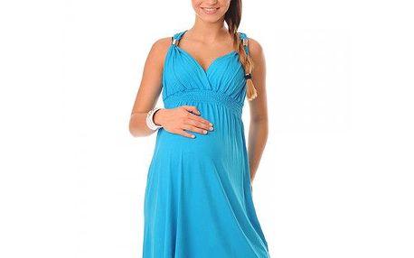 Těhotenské dámské šaty Viola - Sky Blue 8423 - různé vel.