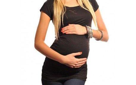 Těhotenské triko krátký rukáv - Milena - černé 5010