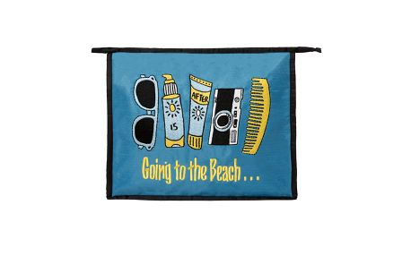 Dámská černo-modrá plážová taštička Sewlomax