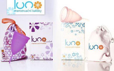 Menstruační kalíšek LUNO ze silikonu + sterilizační kelímek