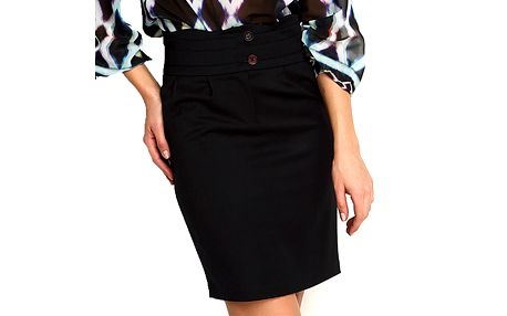Dámská černá sukně s vysokým pasem Fusion