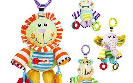 BabyFans - závěsná hračka na kočárek - postýlku - hroch
