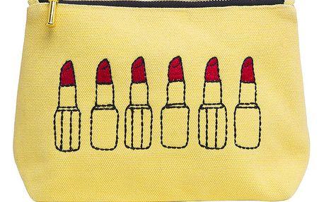 Žlutá taštička na make-up Sewlomax