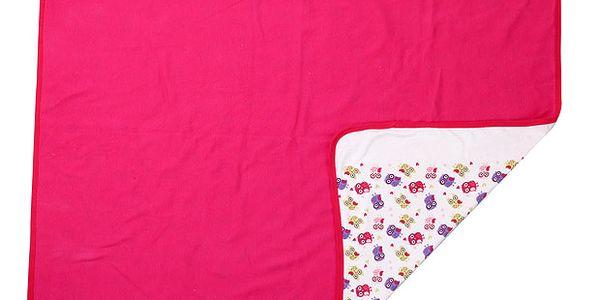 Dětská oboustranná deka se sovičkami (65x85cm)