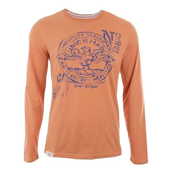 Pánské oranžové tričko s orlem Timeout