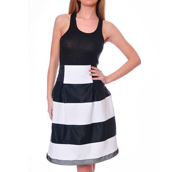 Dámská černo-bílá sukně s širokými pruhy DAKA