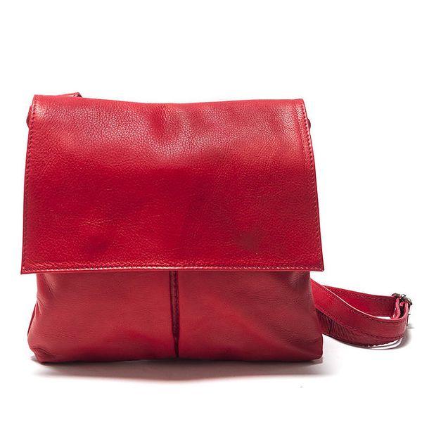 Dámská červená kožená taška přes rameno Isabella Rhea