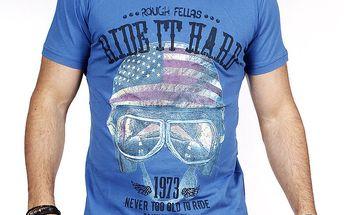 Pánské modré tričko s helmou Pontto