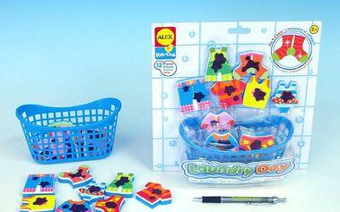 ALEX 855 - Vyper si prádlo s košíkem - pěnová hračka do vody