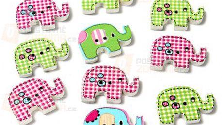 10 kusů knoflíčků v designu slona a poštovné ZDARMA! - 22012226