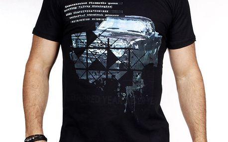 Pánské černé tričko s autem Pontto