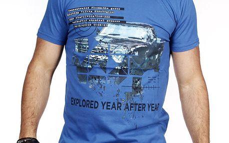 Pánské modré tričko s autem Pontto
