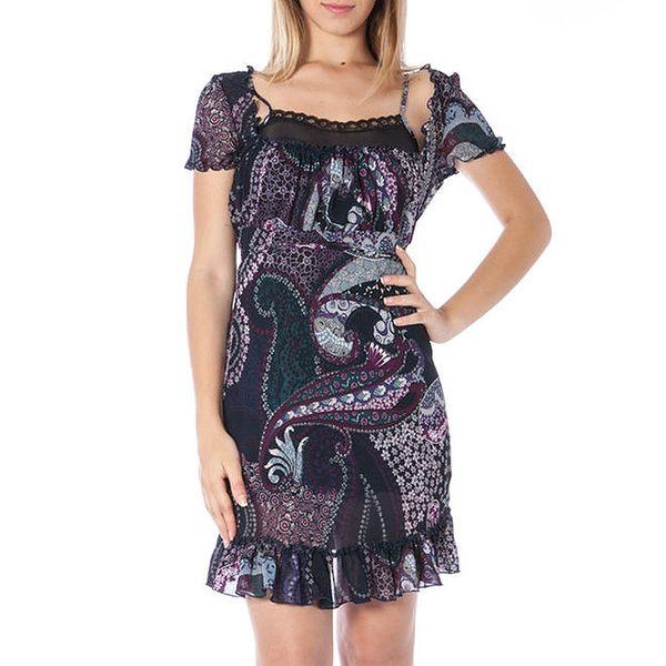 Dámské tmavomodré šaty s potiskem Nancy N.