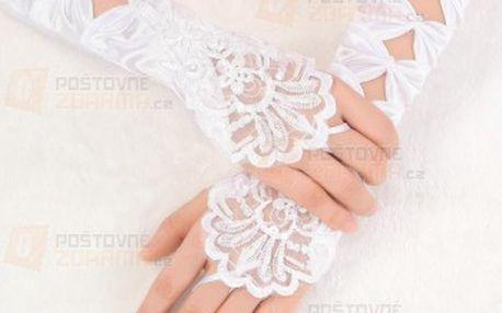 Svatební rukavičky s křížkovou aplikací a poštovné ZDARMA! - 22311557