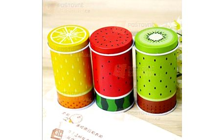 Plechový box na čaj s motivem ovoce a poštovné ZDARMA! - 22204384