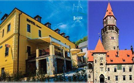 Letní pobyt v Hotelu Bouzov*** - 3 dny se snídaněmi a pronájmem ten. kurtu až do října
