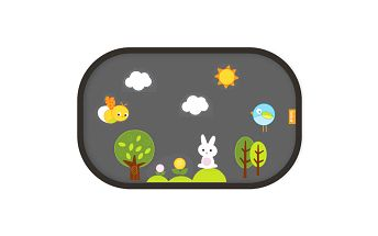 Brica 61011BRC - Sluneční clona se samolepkami Fun Shade™ 1ks