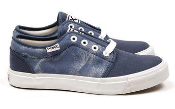 Dámské modrošedé nazouvací boty Pony