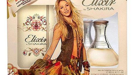 Shakira Elixir EDT dárková sada W - Edt 80ml + zápisník