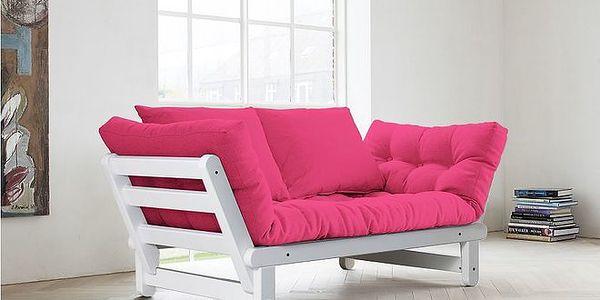 Rozkládací sofa KARUP BEAT FSC WHITE/MAGENTA