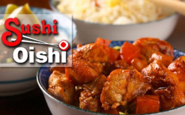 Sleva na SPECIÁLNÍ MENU v restauraci Sushi Oishi! Nakombinujte si jednotlivé ingredience podle vlastních chutí! Vyberte si kuřecí či hovězí maso, lososa nebo krevety, k tomu jednu ze šesti omáček a navrch rýži a zeleninu!
