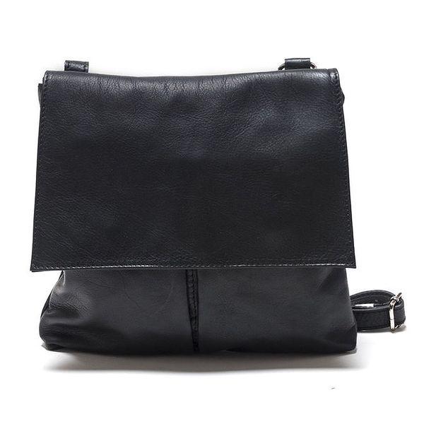 Dámská černá kožená taška přes rameno Isabella Rhea