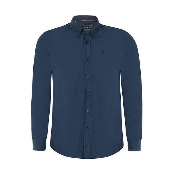 Pánská tmavě modrá košile s dlouhým rukávem Giorgio di Mare