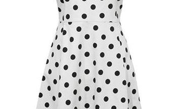 Šaty, bílá/černá