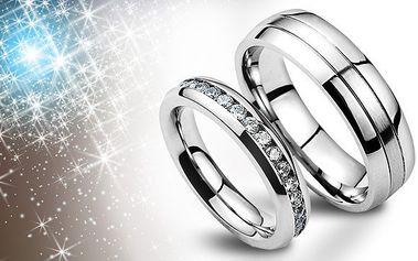 Snubní prsteny z chirurgické oceli za 899 Kč