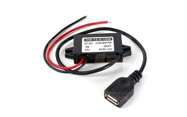 Měnič napětí (z 12 V na 5 V) s USB výstupem a poštovné ZDARMA! - 22712302