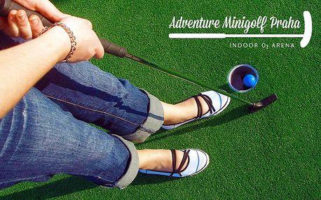 Hodina adventure minigolfu až pro 4 osoby v pražské O2 aréně