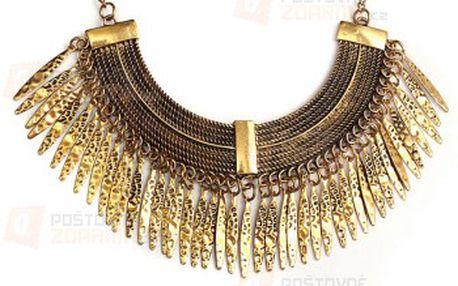 Náhrdelník ve zlaté barvě v antickém stylu a poštovné ZDARMA! - 22312267