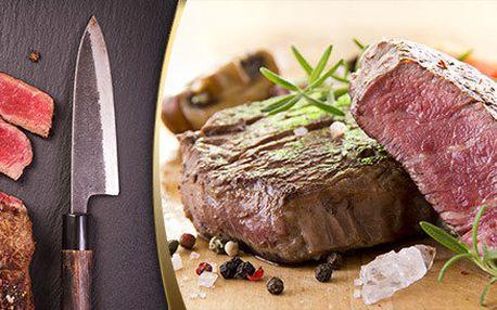Až 300g šťavnatý steak z mladého býčka