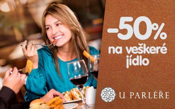 50% sleva v Restauraci U Parléře