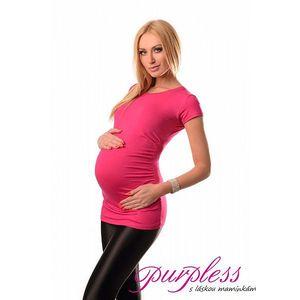 Těhotenské triko krátký rukáv - Milena - růžové 5010 - různé vel.