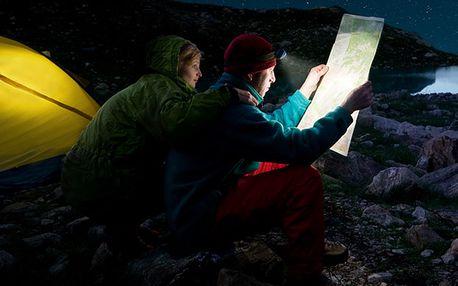 Čelová svítilna s extrémní svítivostí se ZOOM 1x-2000x