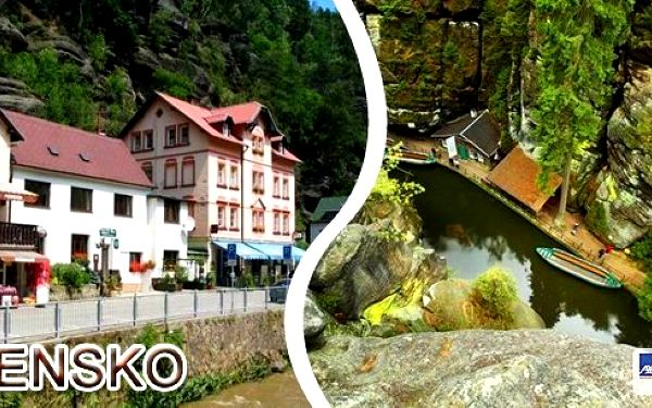 České Švýcarsko - Pobyt v penzionu Oáza pro 2 osoby na 3 dny. Překrásné okolí lákající k výletům a poznávání.