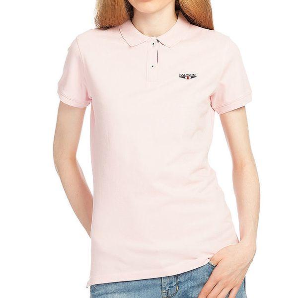 Dámské světle růžové polo tričko Galvanni