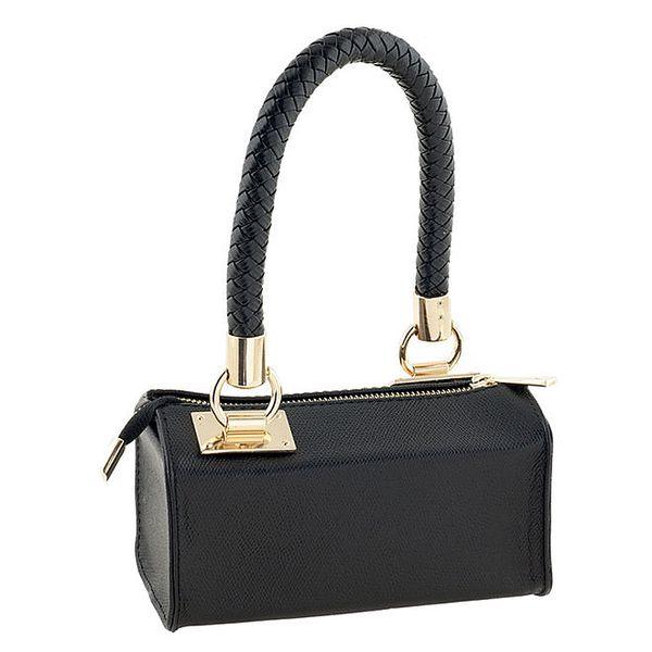 Dámská černá malá bowlingová kabelka z pravé kůže Tina Panicucci
